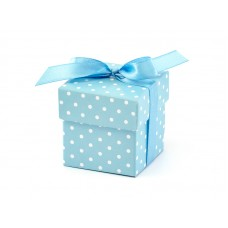 Boxes with dots, sky-blue (1 pkt / 10 pc.)