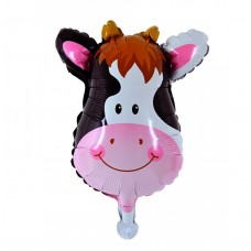 Mini foil Balloon Cow, 34 см х 32 см
