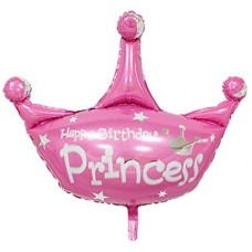 Foil Balloon Crown Princess, 78cm