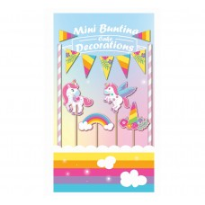 Cake deco set Rainbow Unicorn