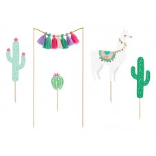 Cake toppers Llama, 9-20cm (1 pkt / 5 pc.)