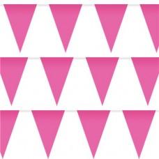 Bright Pink Plastic Bunting - 10m