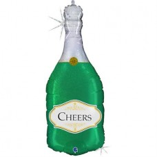 Cheers Bottle Glitter Holog. Single Pack-en  91cm