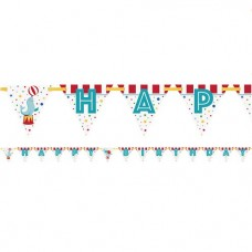 Circus Carnival Happy Birthday Banner 335cm