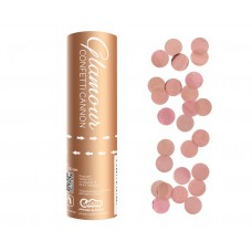 Confetti Cannon Glamour, rose gold metallic foil circles,15 cm