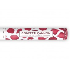 Confetti cannon with rose petals, deep red, 40cm