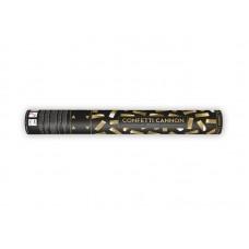 Confetti cannon, gold, 40cm