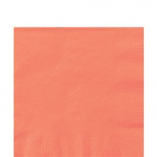 Coral Luncheon Napkins - 33cm Square 2ply Paper
