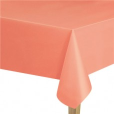 Coral Plastic Tablecover - 1.37m x 2.74m