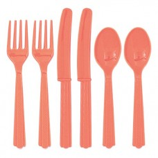 Coral Reusable Cutlery - Assorted 18pk