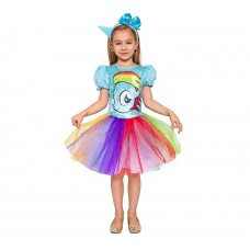 "Costume for children ""Rainbow Unicorn"" (dress, headband), size 120/130"