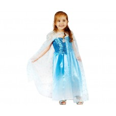 Costume for children blue beauty (dress, cape), size 92/104