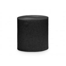 Crepe streamer, 5cm/10m, black (1 pkt / 4 pc.)