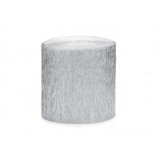 Crepe streamer, 5cm/10m, silver (1 pkt / 4 pc.)