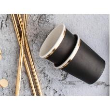 Mini cups, black, 100 ml, 6.2cm x 6cm (1 pkt / 6 pc.)