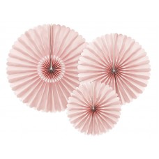 Decorative Rosettes, dusty rose 3 pcs