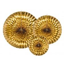 Decorative Rosettes, gold (1 pkt / 3 pc.)