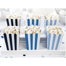 Decorative boxes for popcorn - Little Plane, mix, 7.5 x 7.5 x 12.5 cm (1 pack / 6 pc.)