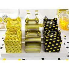 Decorative boxes for sweets Bee, mix, 8.7 x 8.7 x 12.5 cm (1 pkt / 6 pc.)