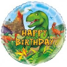 Dinosaur Adventure Birthday Balloon - 45cm  Foil