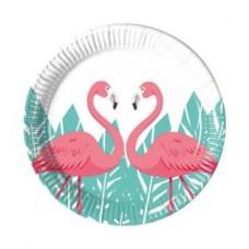Flamingo Paper Plates 23cm - 8pcs