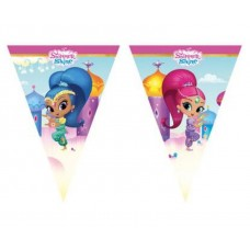 Flag banner SHIMMER AND SHINE, 9 flags