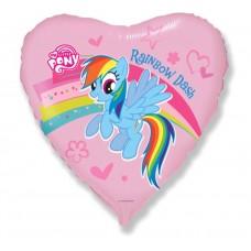"""Foil Balloon 18"""" FX - """"Pony with Rainbow"""""""