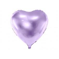 Foil Balloon Heart, 45cm, light lilac
