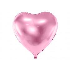 Foil Balloon Heart, 45cm, light pink