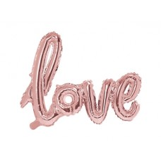Foil Balloon Love, 73x59cm, rose gold
