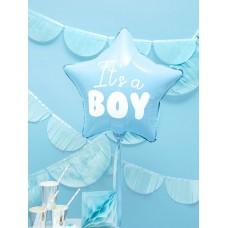 Foil Balloon Star - It's a boy, 48cm, light blue