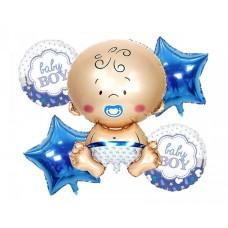 "Foil Balloon set ""Baby Blue"" - 5 Pcs"