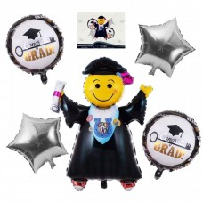 "Foil Balloon set ""Graduation Party"" - 5 Pcs"