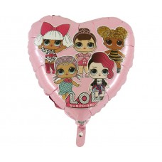 "Foil balloon 18"" GRABO - LOL Surprice (pink)"