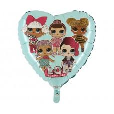 "Foil balloon 18"" GRABO - LOL Surprice (tiffany)"