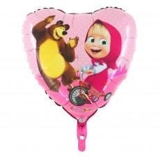 "Foil balloon 18"" HRT GRABO - ""Masha on a bicycle"""