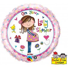 """Foil balloon 18 """"QL CIR 'On Your Baby Shower"""""""