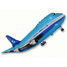 """Foil balloon 24"""" FX - """"Airplane"""" (blue)"""