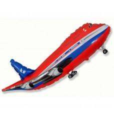 "Foil balloon 24"" FX - ""Airplane"" (red)"