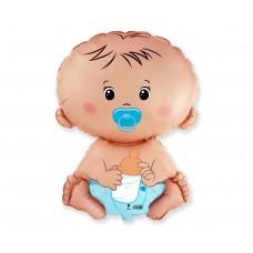 "Foil balloon 24 inches FX - ""Baby boy"""