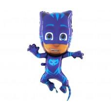 "Foil balloon 37"" PJ Masks, Cat Boy (blue)"