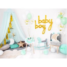 Baby Boy - mint and gold