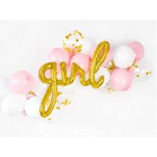 Foil balloon Girl, gold, 77x70cm