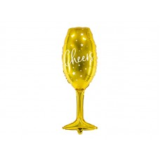 Foil balloon Glass, 28x80cm, gold