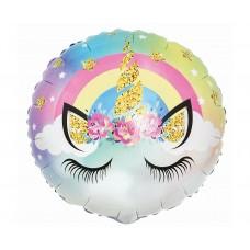 "Foil balloon Pastel Unicorn, 18"""