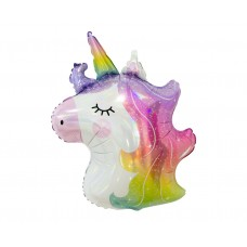 Foil balloon Unicorn (head), 75 cm, shiny