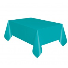Foil table cover, turquoise blue