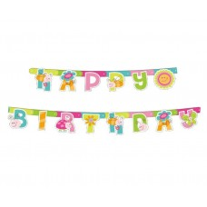 "Garland ""Spring - Happy Birthday"""