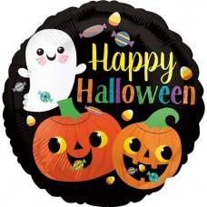 "Ghost & Pumpkin Foil Balloon (18"")"