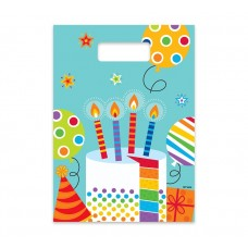 """Gift bags """"Colourful party"""", 23x16cm, 6 pcs"""
